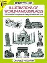 Ready-To-Use Illustrations of World-Famous Places