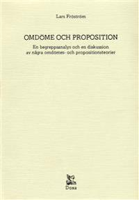 Omdöme och proposition - En begreppsanalys och en diskussion av några omdöm