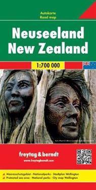 Neuseeland 1 : 700 000 mit Stadtplan Wellington