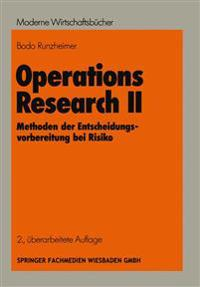 Operations Research II