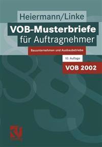 Vob-Musterbriefe F r Auftragnehmer