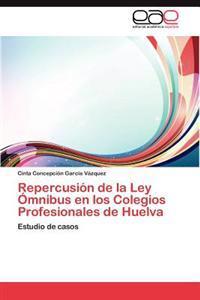 Repercusion de La Ley Omnibus En Los Colegios Profesionales de Huelva