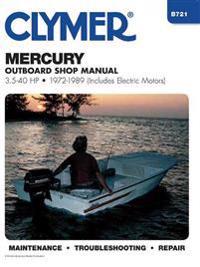 Mercury Outboard Shop Manual 3.5-40 Hp 1972-1989
