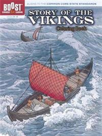 Story of the Vikings Coloring Book, Grades 3-5