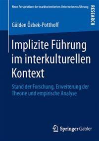Implizite F hrung Im Interkulturellen Kontext
