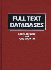 Full Text Databases