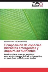 Composicion de Especies Hidrofitas Emergentes y Captura de Nutrientes