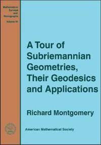 Tour of Subriemannian Geometries, Their Geodesics and Applications