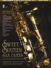 Sweet Sixteen Jazz Duets Vol. 2 Music Minus One Alto or Tenor Sax Student Edition with CD (Audio)