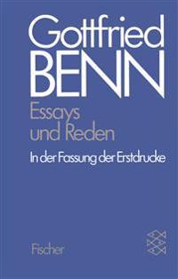 Werkausgabe III. Essays und Reden in der Fassung der Erstdrucke