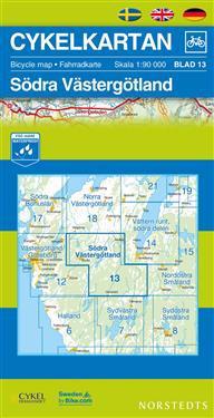 Cykelkartan Blad 13 Södra Västergötland : 1:90000