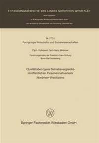 Qualitätsbezogene Betriebsvergleiche Im Öffentlichen Personennahverkehr Nordrhein-westfalens