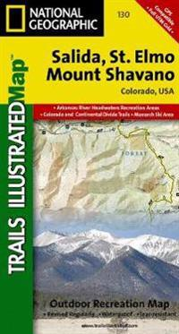 National Geographic Trails Illustrated Map Salida / St Elmo / Shavano Peak