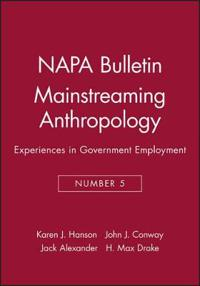Mainstreaming Anthropology Experiences in Government Employment