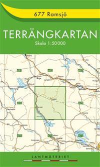 677 Ramsjö Terrängkartan : 1:50000