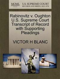 Rabinovitz V. Oughton U.S. Supreme Court Transcript of Record with Supporting Pleadings