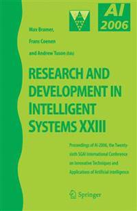 Research and Development in Intelligent Systems XXIIIi
