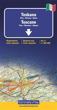 Toskana Toscane Regional map 1:200 000 (No 8)