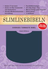 Slimline Bibeln blå cabraskinn med apokryferna