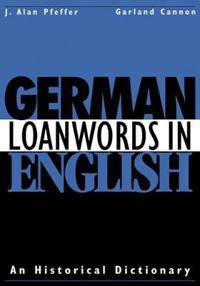 German Loanwords in English
