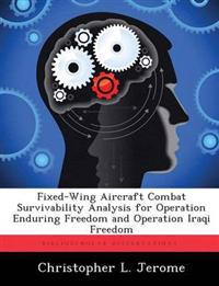 Fixed-Wing Aircraft Combat Survivability Analysis for Operation Enduring Freedom and Operation Iraqi Freedom