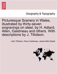 Picturesque Scenery in Wales, Illustrated by Thirty-Seven Engravings on Steel, by H. Adlard, Allen, Gastineau and Others. with Descriptions by J. Tillotson.