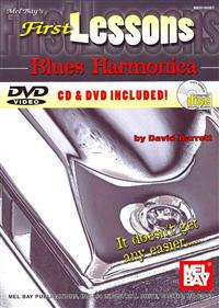 First Lessons Blues Harmonica [With CD and DVD]