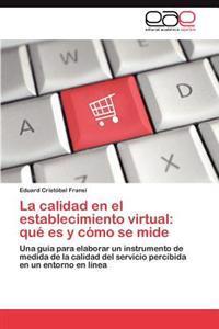 La Calidad En El Establecimiento Virtual