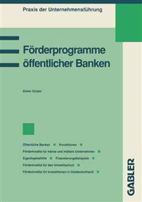 Förderprogramme Öffentlicher Banken