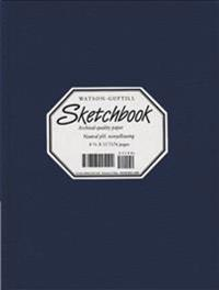 Large Sketchbook (Lizard, Navy Blue)