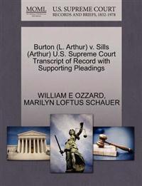 Burton (L. Arthur) V. Sills (Arthur) U.S. Supreme Court Transcript of Record with Supporting Pleadings