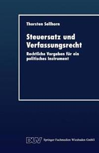 Steuersatz Und Verfassungsrecht