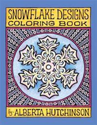 Snowflake Designs Coloring Book: 24 Designs in Elaborate Frames
