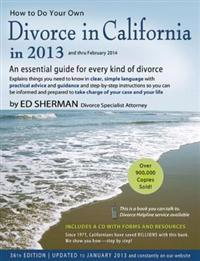 How to Do Your Own Divorce in California in 2013 and Thru February 2014