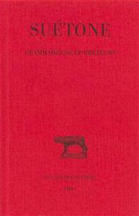 Suetone, Grammairiens Et Rheteurs
