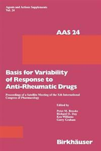 Basis for Variability of Response to Anti-rheumatic Drugs