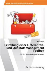 Erstellung Einer Lieferanten- Und Qualitatsmanagement Toolbox