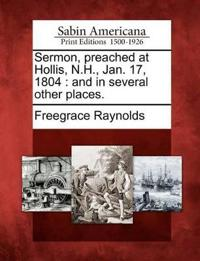 Sermon, Preached at Hollis, N.H., Jan. 17, 1804