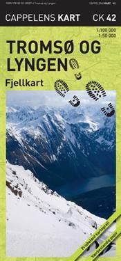 Tromsö og Lyngen Fjellkart Cappelen CK42 : 1:50000-1:100000