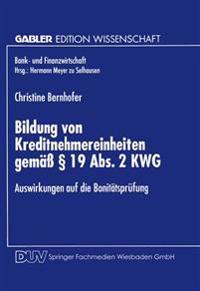 Bildung Von Kreditnehmereinheiten Gemäss § 19 Abs. 2 Kwg
