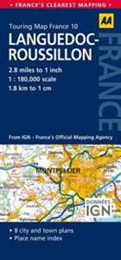 AA Touring Map France Languedoc-Roussillon