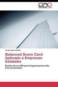 Balanced Score Card Aplicado a Empresas Estatales
