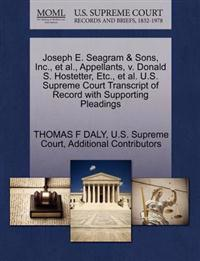 Joseph E. Seagram & Sons, Inc., et al., Appellants, V. Donald S. Hostetter, Etc., et al. U.S. Supreme Court Transcript of Record with Supporting Pleadings