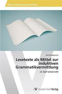 Lesetexte ALS Mittel Zur Induktiven Grammatikvermittlung