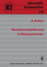Benutzermodellierung in Dialogsystemen