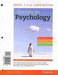 Statistics for Psychology, Books a la Carte Edition