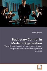 Budgetary Control in Modern Organisation