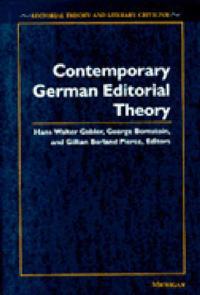 Contemporary German Editorial Theory