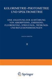 Kolorimetrie - Photometrie Und Spektrometrie