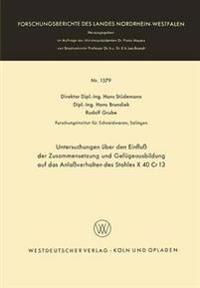 Untersuchungen Über Den Einfluß Der Zusammensetzung Und Gefügeausbildung Auf Das Anlaßverhalten Des Stahles X 40 Cr 13